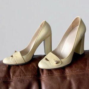 Vintage Gucci Patent Leather Block Heel Pumps sz 7